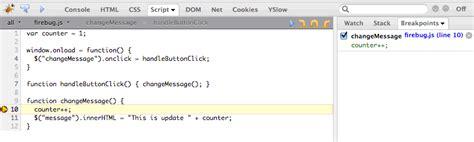 tutorial debug javascript with firebug debugging javascript code with firebug tips and tricks hq