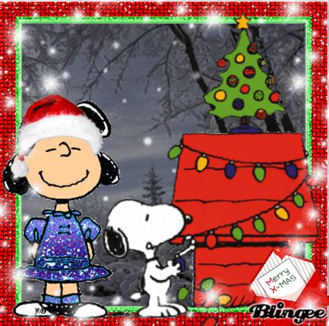peanuts animated christmas images merry snoopy picture 117379933 blingee