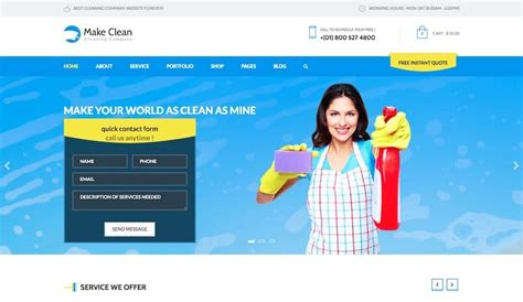 Cleaning Services Website Template Free Puro Templates Housekeeping Website Templates Free