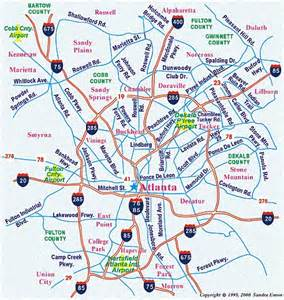 atlanta area map map of atlanta area my
