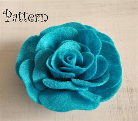 felt pattern pdf rose tutorial felt rose pdf headband pattern by