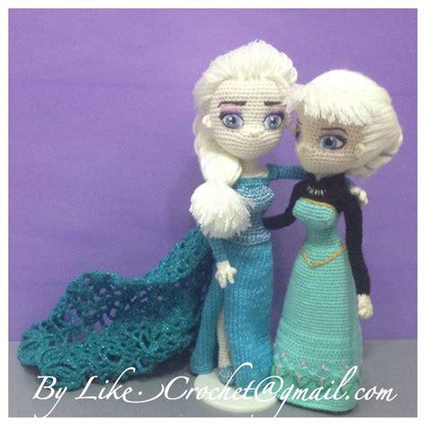 amigurumi elsa pattern free two elsa snowqueen of frozen coronation day elsa ice gown