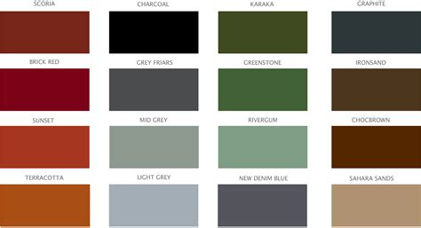 pin grout colours chart on