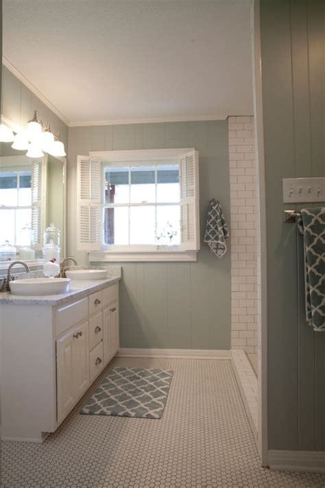 Bathroom Floor Wall Color Schemes As Seen On Hgtv S Fixer Bathroom Ideas