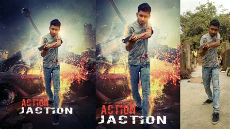tutorial poster ff picsart action movie poster design picsart editing tutorial youtube