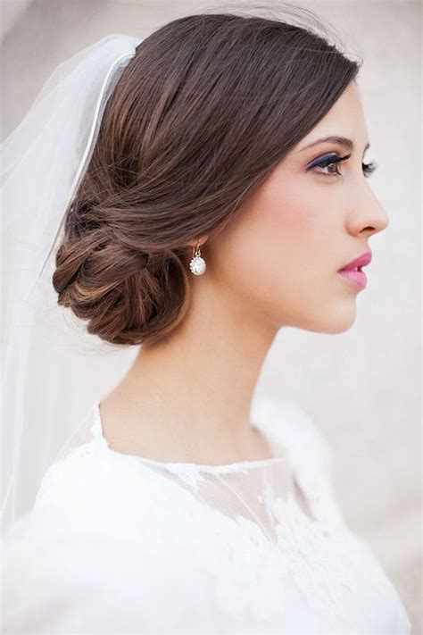 Wedding Hairstyles Side Bun With Veil by Wedding Hairstyles Side Bun With Veil Www Imgkid