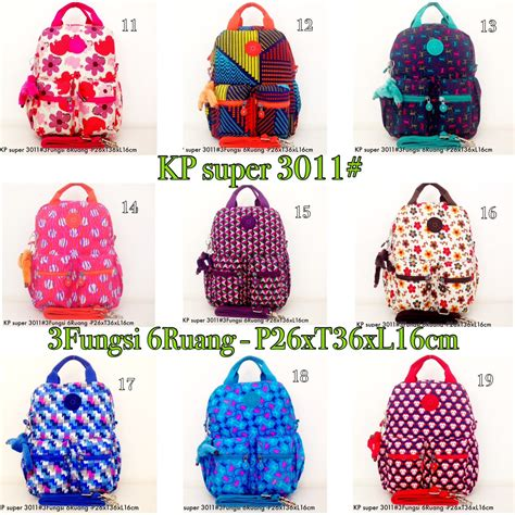 tas ransel kipling backpack handbag selempang 3in1 6 r