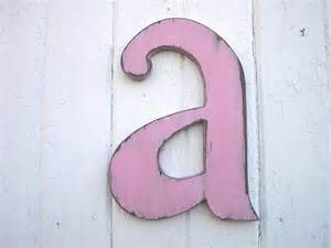 shabby chic letters items similar to shabby chic wall letter quot a quot wooden wall