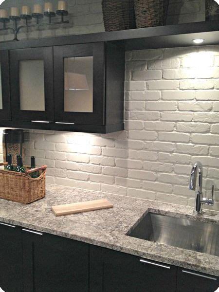 wainscot backsplash kitchen dr pinterest 25 best ideas about faux brick wall panels on pinterest