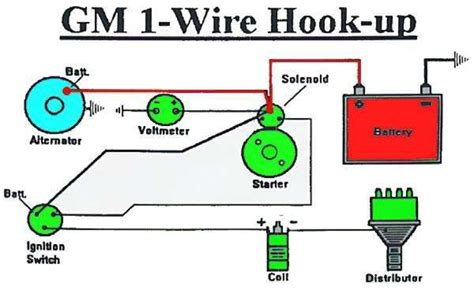 wiring diagram for gm one wire alternator get free image