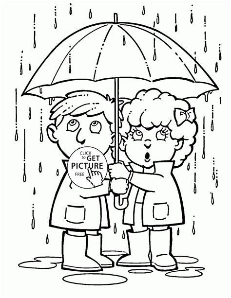 free coloring page rain free printable rain coloring pages az coloring pages