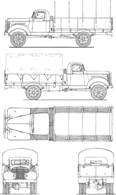 GMC ACK 353 1940 Blueprint - Download free blueprint for