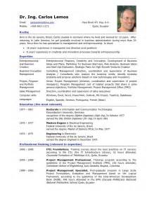 Curriculum Vitae English by Fresh Essays Example Of Cv Europass