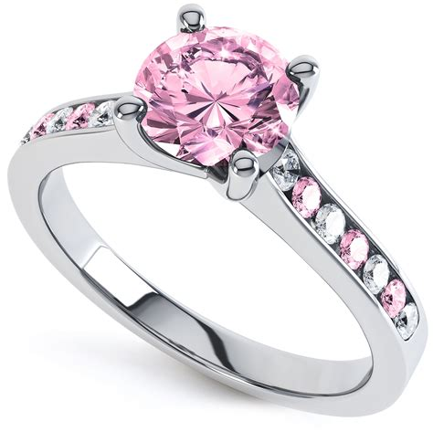 Engagement Rings Pink Sapphire by Pink Sapphire Solitaire Engagement Rings