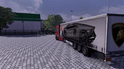 Lamborghini Aventador Trailer Lamborghini Aventador Roadster Trailer Truck