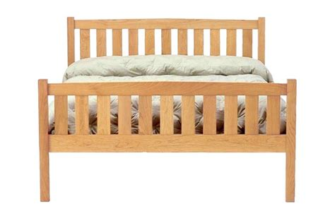 Cherry Wood Bed Frame Crown Mission Cherry Wood Platform Bed Frame High Footboard The Futon Shop