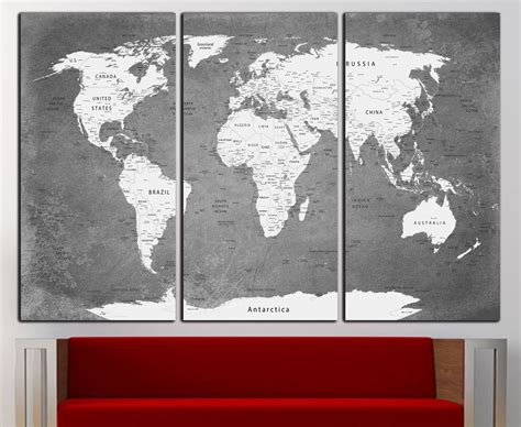 World Wall Decor by World Map Canvas Print Wall World Map Wall Decor World Map