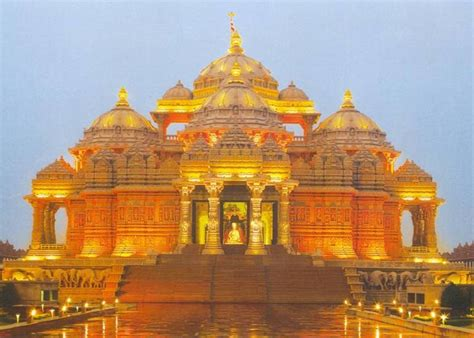 hindu temple akshardham temple laser water show at akshardham