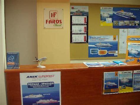 Hotel Travel Desk by Travel Agency Desk Picture Of Faros 1 Hotel Piraeus Tripadvisor