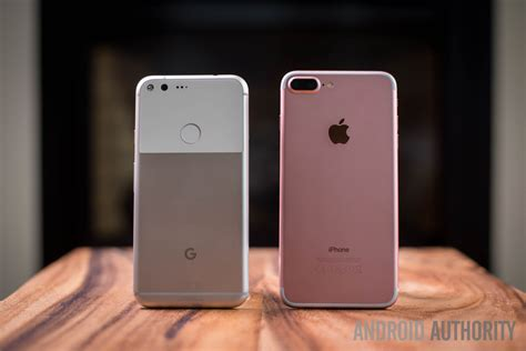 pixel xl vs apple iphone 7 plus android authority