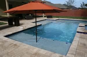 modern pool with two sun shelves port orange florida