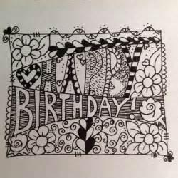 happy birthday doodle easy happy birthday drawing cliparts co