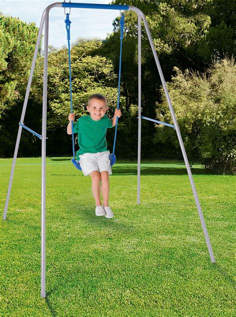kids single swing chad valley kids active single swing blue