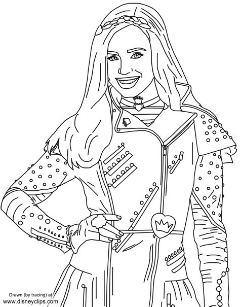 descendants coloring pages of evie disney s descendants 2 printable coloring pages disney