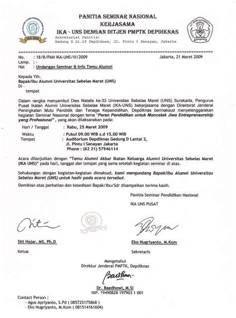 Contoh Notulen Rapat Pecinta Alam by Undangan Reuni Akbar Ikatan Keluarga Alumni Ika Uns