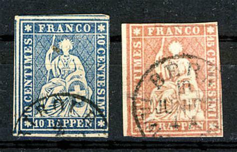 Schweiz Briefmarken Wert Die Briefmarken Der Schweiz