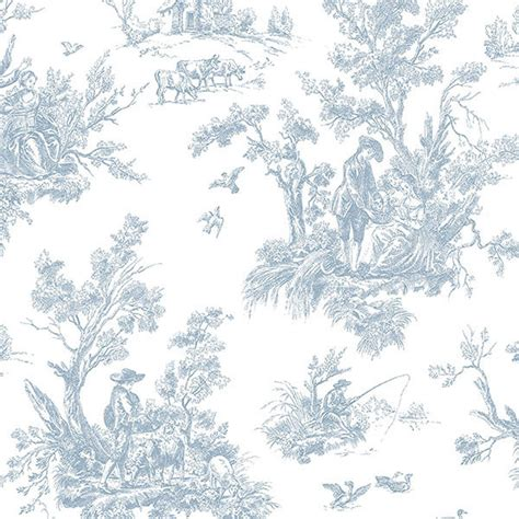 wallpaper toile blue light blue toile ab27656 wallpaper traditional