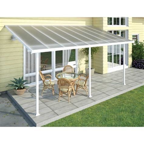 palram feria 3m patio cover white
