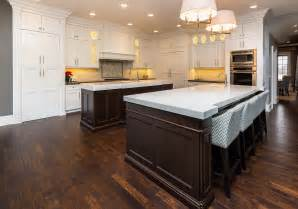 double island kitchen ovation cabinetry islands transitional casa verde design