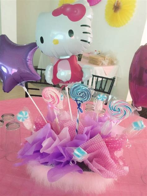 21 Best Balloons Hello Kitty Images On Pinterest Hello Centerpieces For Birthday
