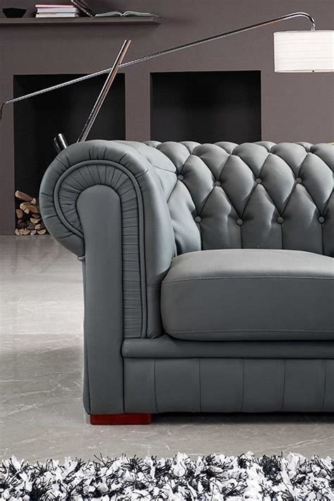 transitional leather sectional divani casa paris 1 transitional tufted leather