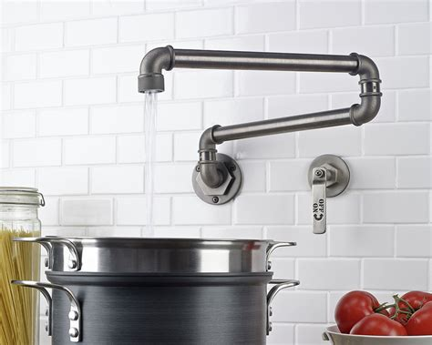industrial style kitchen faucet customizable industrial style faucet design from watermark freshome