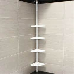 4 tier adjustable telescopic bathroom corner shower shelf