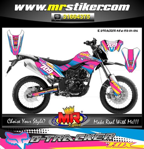 Stiker Decal Jupiter Mx King Pink Dtracker New Fox Stiker Motor Striping Motor