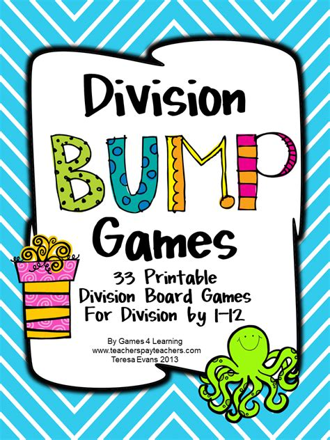printable division games fun games 4 learning my products