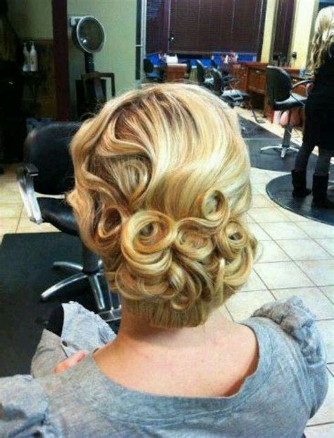 great gatsby prom hair up dos gatsby and curls on pinterest