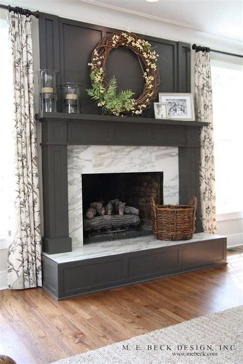25 best ideas about black fireplace mantels on