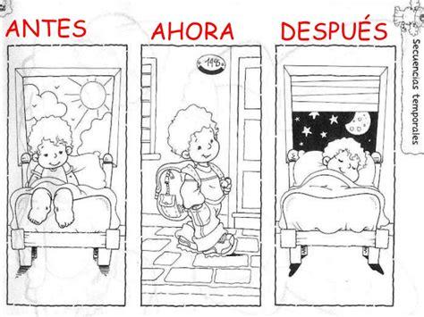 Imagenes Nociones Temporales | nociones temporales infantil