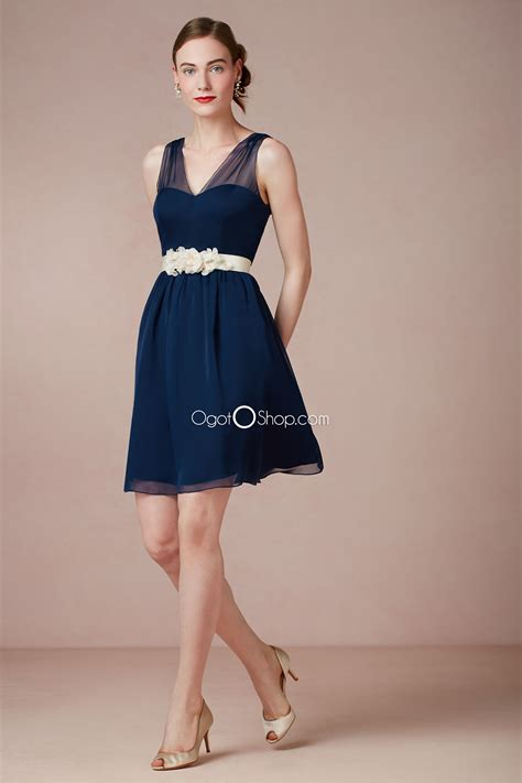 navy blue dress gorgeous navy blue bridesmaid dresses to inspire you cherry