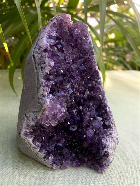 rock crystal l base large amethyst cluster geode crystal quartz cut base