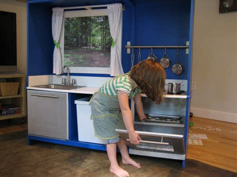 tv cabinet kids kitchen make play kitchens from old tv cabinets modhomeec
