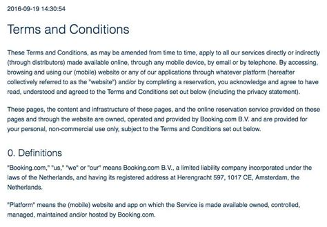 booking terms and conditions template sle terms and conditions template termsfeed