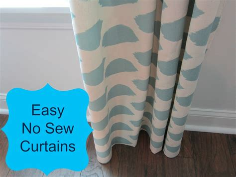 make your own curtains no sew no sew curtains