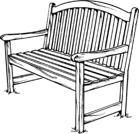bench drawing bench definition for english language learners from