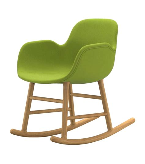 rocker armchair form normann copenhagen upholstered rocking armchair