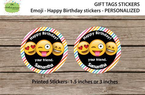 Happy Birthday Stickers Personalized